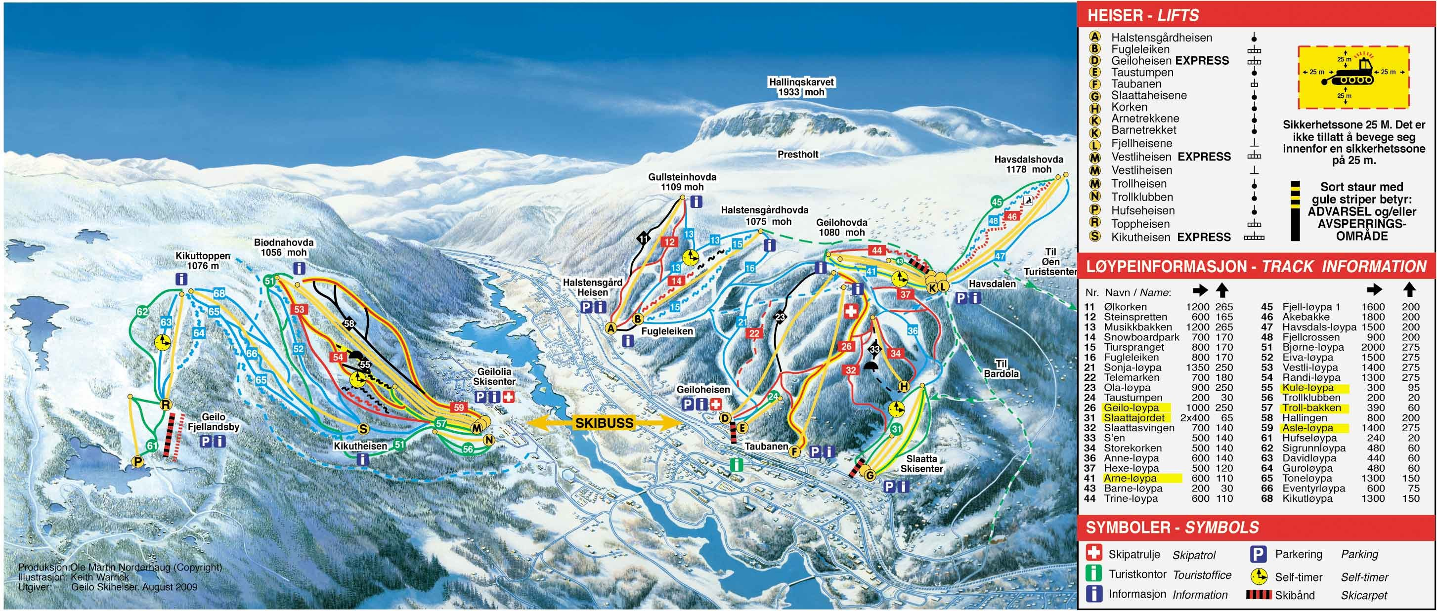 Absolutely Snow Norway Geilo Piste Map