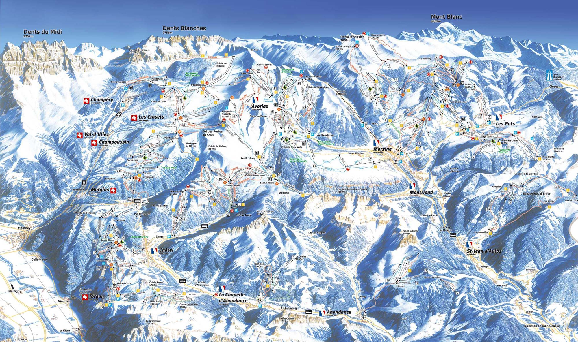 Absolutely Snow Skiing Holidays Morzine Piste Map